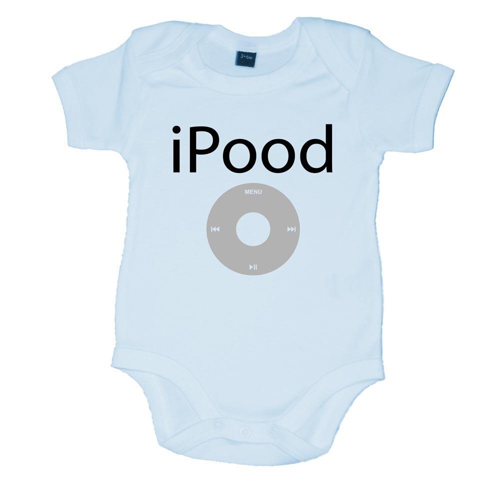 iPood Fun iPod Parody Baby Vest Pale Blue (0-3 Months) Doodleman BQ-29KQ-AXQ2