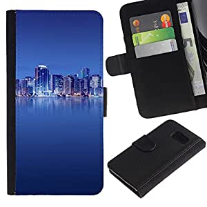 All Phone Most Case / Oferta Especial Cáscara Funda de cuero Monedero Cubierta de proteccion Caso / Wallet Case for Sony Xperia Z3 Compact // The Blue City