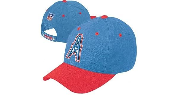 e8be177da081f6 Amazon.com : Houston Oilers NFL Throwback Logo Adjustable Hat : Baseball  Caps : Sports & Outdoors