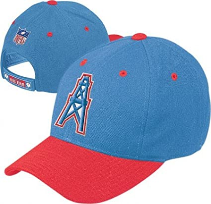 b6a344afb0959 Image Unavailable. Image not available for. Color  Houston Oilers NFL  Throwback Logo Adjustable Hat