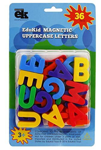 EduKid Toys 36 MAGNETIC UPPERCASE ALPHABET LETTERS (Blister Card) ()