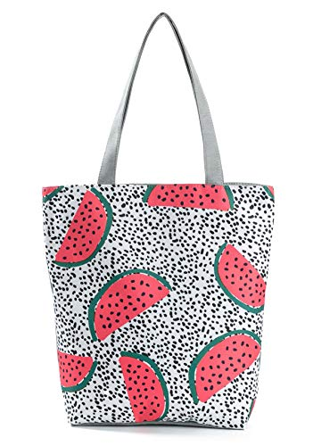 Dot Nawoshow Shopping Tote Handbag Top Watermelon Bag Shoulder Handle Women Bag Girls Canvas rRXrPq