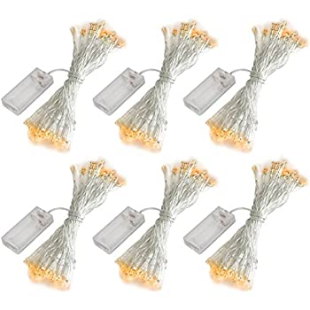 accmor 6 Pack 10ft/3m 30 LEDs Mini Bulb Battery Operated Fairy String Lights, Super Bright Starry Light for Gift Wedding Party Bedroom Home Decoration ...