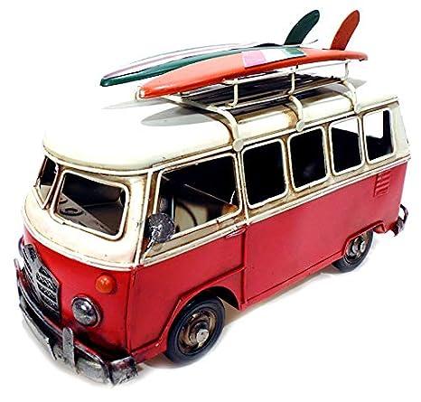 c24c8557ec7 Miniatura Perua Kombi Surfista Retrô 1214RED  Amazon.com.br  Casa