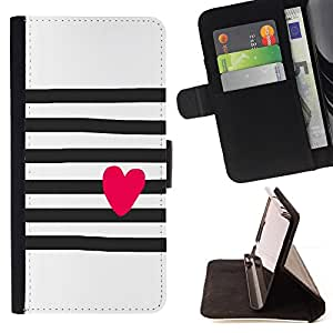 Jordan Colourful Shop - heart art drawing pink black white For Apple Iphone 6 PLUS 5.5 - Leather Case Absorci???¡¯???€????€???????&bd