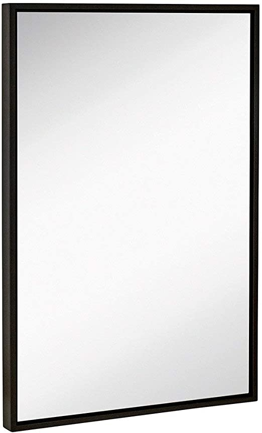 Black Artsay 24x36 Wall Mirror with Frame Hanging Vanity Makeup Mirrors for Bathroom Living Room Bedroom