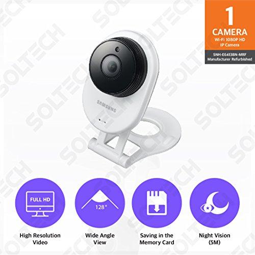 Samsung SNH-E6413BN SmartCam HD WiFi IP Camera with 16GB micro SD Card...