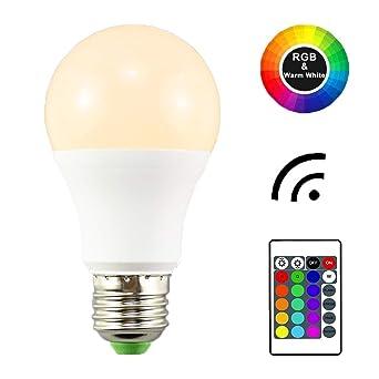 1-Paquete E27 Edison Tornillo 6W RGB + Blanco cálido 3000K color Cambio