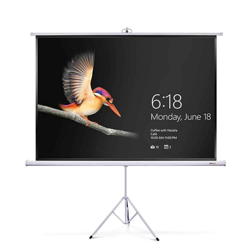 MOMAKQ 自立 プロジェクタースクリーン 100インチ 三脚式 16:9 軽量 HD ホームシアター スクリーン 吊り下げ 高さ調整 折りたたみ コンパクト 収納 プレゼン 巻き 手動 4k ロール モバイル 家庭 投影 会議 教室 持ち運び B07JLRZB3D