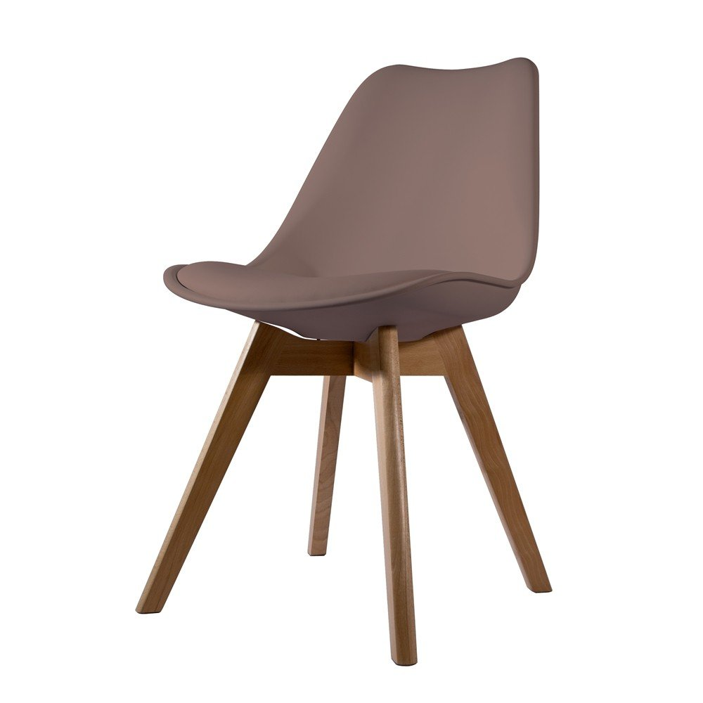 Chaise scandinave taupe avec coussin The concept factory
