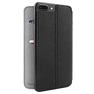 Twelve South SurfacePad for iPhone 8 Plus/7 Plus/6 Plus Black | Ultra-Slim Luxury Leather Cover + Display Stand (Black) (B01MTE877F) | Amazon price tracker / tracking, Amazon price history charts, Amazon price watches, Amazon price drop alerts