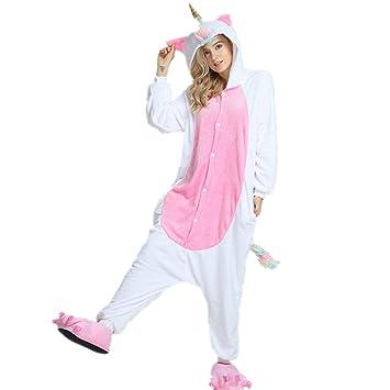 Misslight Unicornio Pijamas Animal Ropa de dormir Cosplay Disfraces Pijamas para Adulto Niños Juguetes y Juegos