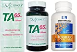 T.A. Sciences TA65 90 Capsules 250 Units Includes a Free Bottle of Braxton LabsTumeric Curcumin 60 Vegetable Caps