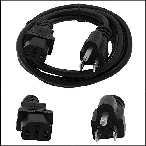 GOWOS 25Ft Computer Power Cord 5-15P to C13 Black SVT 18/3
