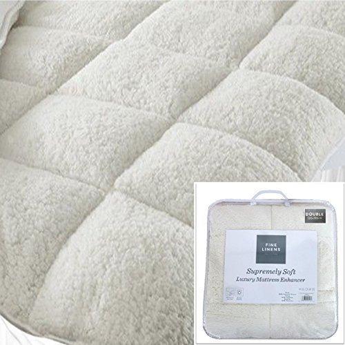 Luxury Super Soft Warm Teddy Fleece Mattress Topper