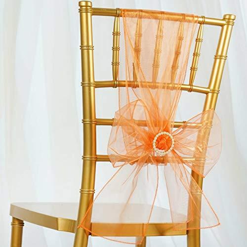- Mikash 50/PK ~New~ Sheer Organza Chair Sash Bow Wedding Party Banquet 20+ Colors! | Model WDDNGDCRTN - 20632 |