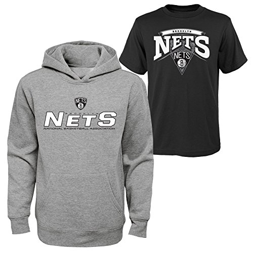 (NBA New Jersey Nets Boys 8-20 Tee & Hoodie Set, Large (14-16), Assorted Color)