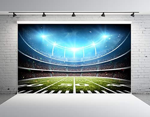 Kate 10x6.5ft Football Field Backdrops Sports Photography Backdrops Soccer Stadium Background Microfiber Photo Studio Props ()