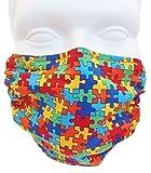 Breathe Healthy Masks Puzzle Design Dust & Allergy Face Mask Kids Allergy & Pollen Mask / Kids Flu Mask - Antimicrobial Germ Killing Agent, Child Size