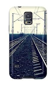 New Railroad Close-up Tpu Case Cover, Anti-scratch DeirdreAmaya Phone Case For Galaxy S5