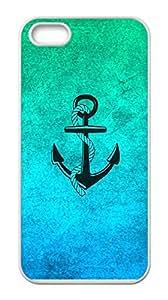 Anchor Iphone 5&5S Durable Hard Plastic Case Cover Custom DIY