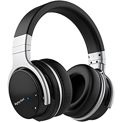 Mighty Rock Active Noise Cancelling Headphones Over Ear Bluetooth Headphones Hi-Fi Deep Bass Wireless Headphones With Microphone Built-in and 30H Playtime for Travel