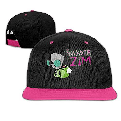 Baseball Fury Costume (KIYOMM Unisex Invader Zim Logo Adjustable Snapback Hip-hop Baseball Cap & Hat Pink)