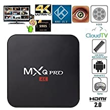 Generic MXQ Pro Android TV Box Amlogic S905X Quad Core 17.3 Krypton Pre installed Full Loaded Android 6.0 OS TV Box 1G/8G 4K Streaming Media Players with WiFi