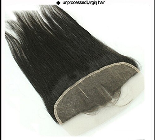 DaJun 6A Bleached Knots Mid-Part Lace Frontal Closure 13''*4'' Malaysian Natural Straight Virgin Hair Natural Colour (trademark:DaJun) by DaJun