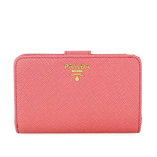 Prada Bi-fold Zip Saffiano Leather Wallet - Tamaris