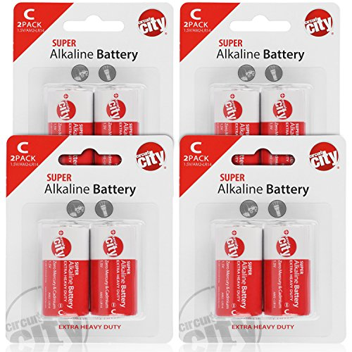 Essential Circuit City C-Cell High Performance Alkaline Batteries (8 Pack)