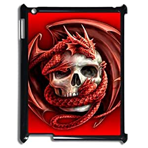 Diy Dragon Skull Phone Case for iPad 2 3 4 Black Shell Phone JFLIFE(TM) [Pattern-1]