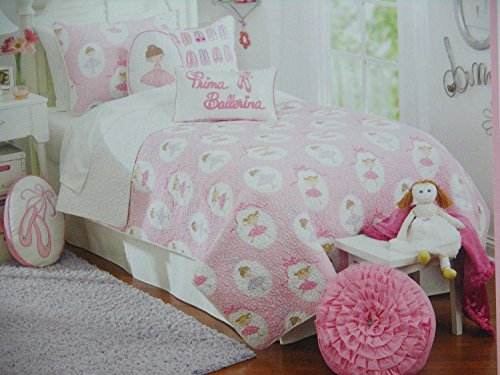 Maggie Miller Children's Collection Pink Ballerina Dancer Twin Quilt by Maggie Miller
