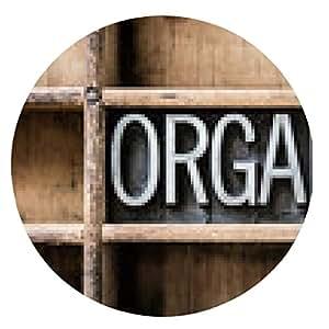 alfombrilla de ratón Orgánica tipo de tipografía en el cajón - ronda - 20cm