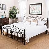 Edsel King Size Black Finish Iron Bed Frame