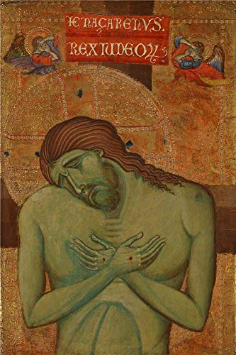 (The Polyster Canvas Of Oil Painting 'Italian Umbrian The Man Of Sorrows ' ,size: 10 X 15 Inch / 25 X 38 Cm ,this Amazing Art Decorative Prints On Canvas Is Fit For Home Office Decoration And Home Decor And Gifts )