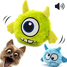 Interactive Dog Toy Plush Squeaky Giggle Ball Automatic Electronic Shake Crazy Bouncer Dog Toys For Exercise Entertainment Boredom For Small to Medium Dogs - Best Christmas Birthday Gift For Puppy …