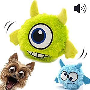 Pet Supplies : Interactive Dog Toy Plush Squeaky Giggle