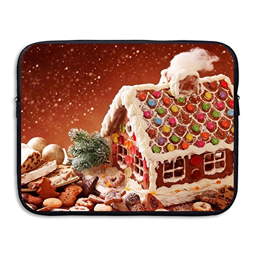 Laptop Sleeve Case Protective Bag Gingerbread House And Christmas Cookies Printed Ultrabook Briefcase Sleeve Bags Cover For 15 Inch Macbook Pro/Notebook/Acer/Asus/Lenovo Dell/Women/Men]()