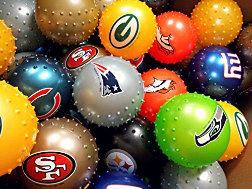 NFL SPORTS KNOBBY BALLS (50 COUNT) ASSORTED; DEFLATED