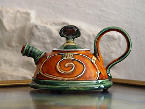 (Ceramic Serving Teapot, Small Pottery Tea Pot. Kitchen Decoration, Home Decor, Handmade Pottery, Ceramic art, Unique Pottery Teapot, Danko)