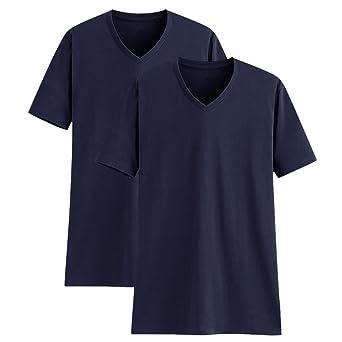 Camisetas para Hombre Algodón Manga Corta Cuello en V Camisetas Interior de Hombre Camiseta Básica Camiseta Casual de Hombre Ropa Deportiva Ropa Casual Pack de 2: Amazon.es: Ropa y accesorios