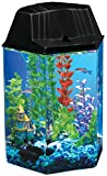 AquaView 1.7-Gallon Fish Tank with LED Lighting and Power Filter