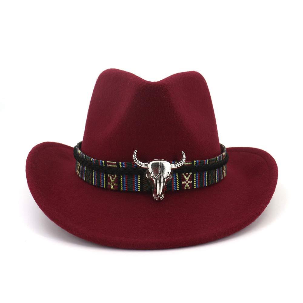 FADVES Women Western Cowboy Hat Wide Brim Cowgirl Cap Flower Weaving Belt