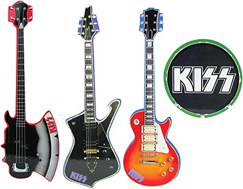 Kiss Musical Instrument Shaped Coasters Set of (Kiss Coasters)