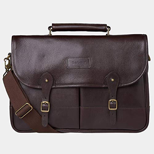 Barbour Wax and Leather Briefcase - Olive from Barbour