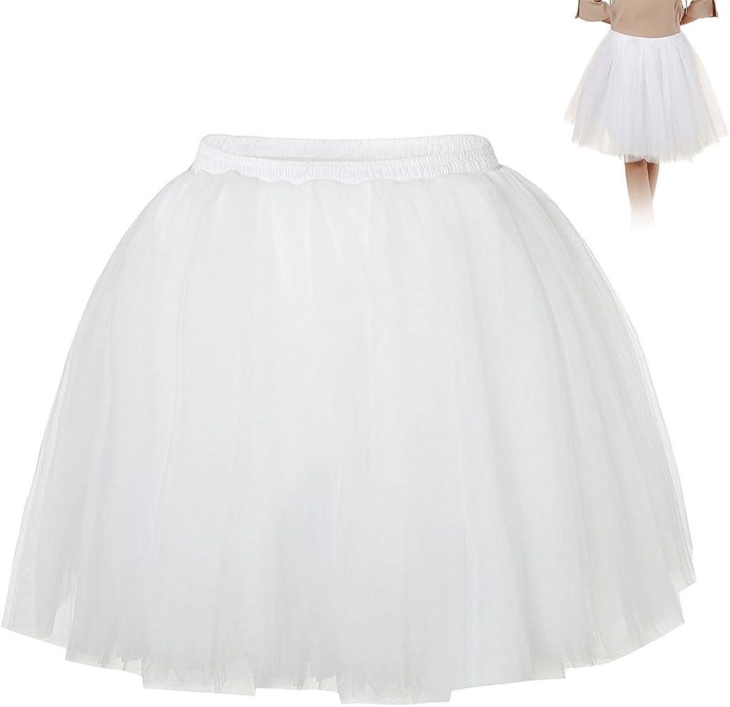 Enjoygoeu Adulto Lujoso Tutu Suave Falda de Tul Vintage de Las ...