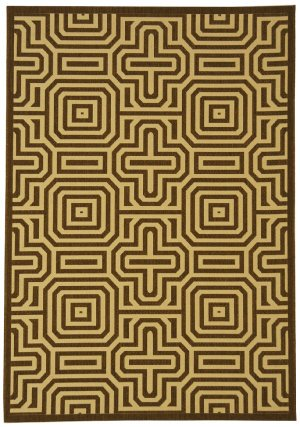Courtyard Rug CY2962 Chocolate Natural 2ft x 7ft