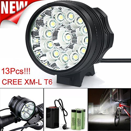 OVERMAL 32000LM 13 x CREE XM-L T6 LED 6 x 18650 Bicycle Cycling Light Waterproof Lamp