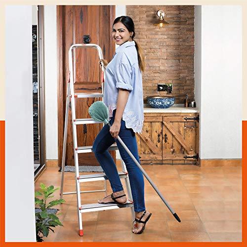 Bathla Advance 5-Step Foldable Aluminium Ladder with Sure-Hinge